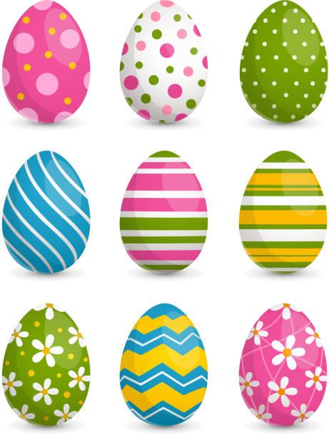 장식 부활절 달걀 - 부활절 달걀 stock illustrations