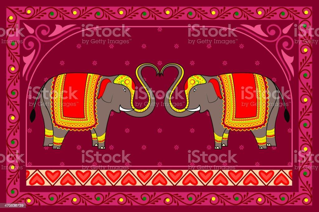 Decorated Elephant royalty-free stock vector art