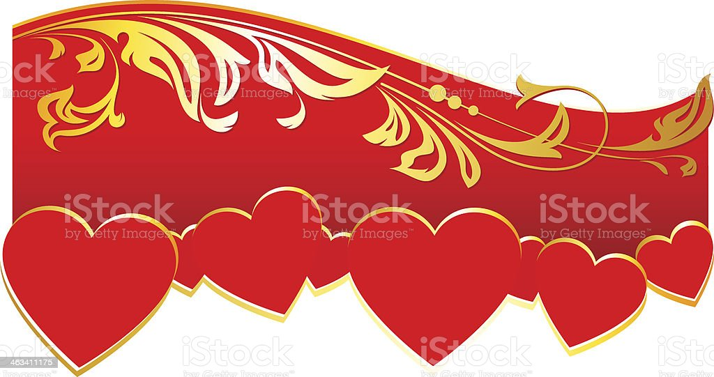 Decoration for Valentine's Day royalty-free stock vector art