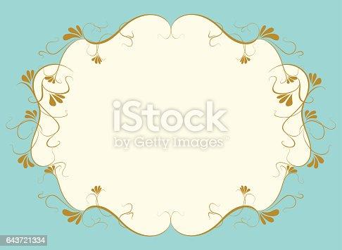 vector illustration of decoration frame