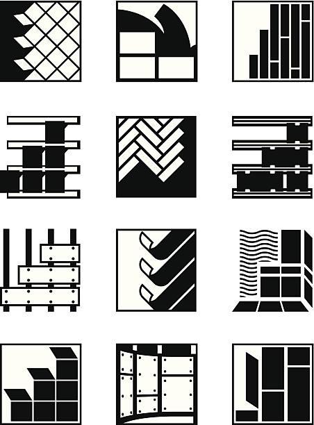 dekoration-materialien für innen und außen - granitplatten stock-grafiken, -clipart, -cartoons und -symbole