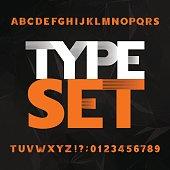 Decorative alphabet typeset