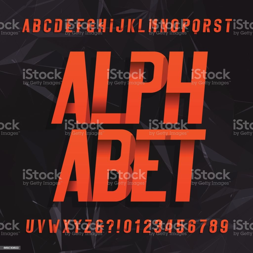 Decorative alphabet vector font. vector art illustration