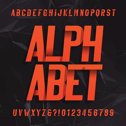 Alphabet De Polices Vectorielles Décoratifs Vecteurs libres de droits et plus d'images vectorielles de Abstrait
