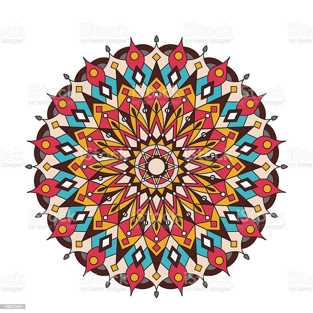 Decorative arabic round lace ornate mandala. Vintage vector pattern for ilustração de decorative arabic round lace ornate mandala vintage vector pattern for e mais banco de imagens de abstrato royalty-free