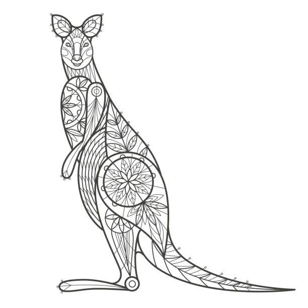 Vectores de Libro Para Colorear Con Animales De Dibujos Animados De ...