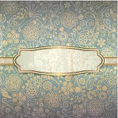 Decorative background in a retro style with golden pattern eps 10 with transparency