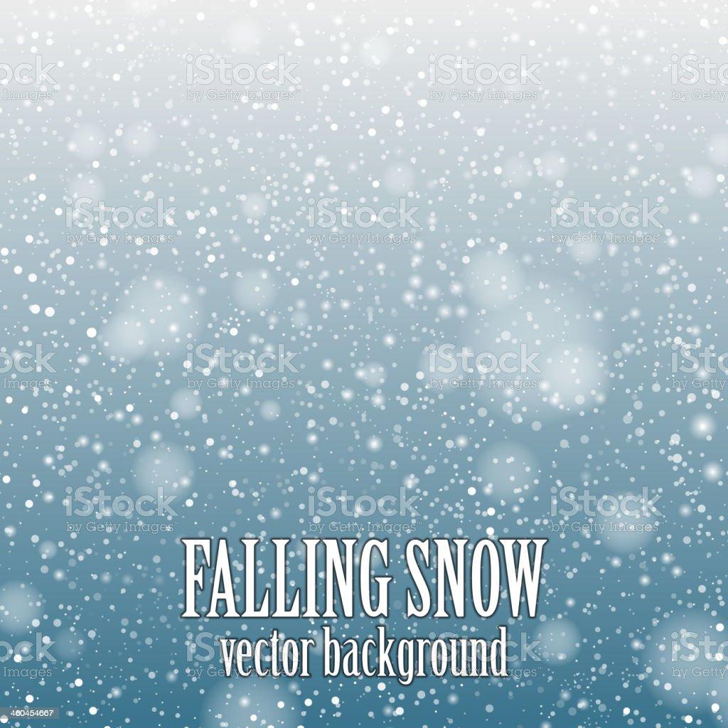 Decorative background of falling snow vector art illustration
