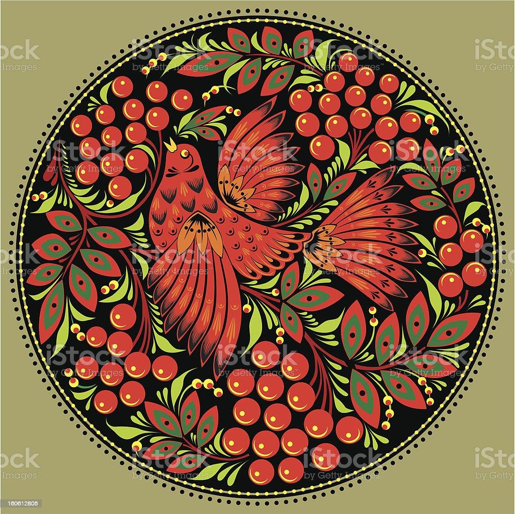 decorative bird royalty-free stock vector art