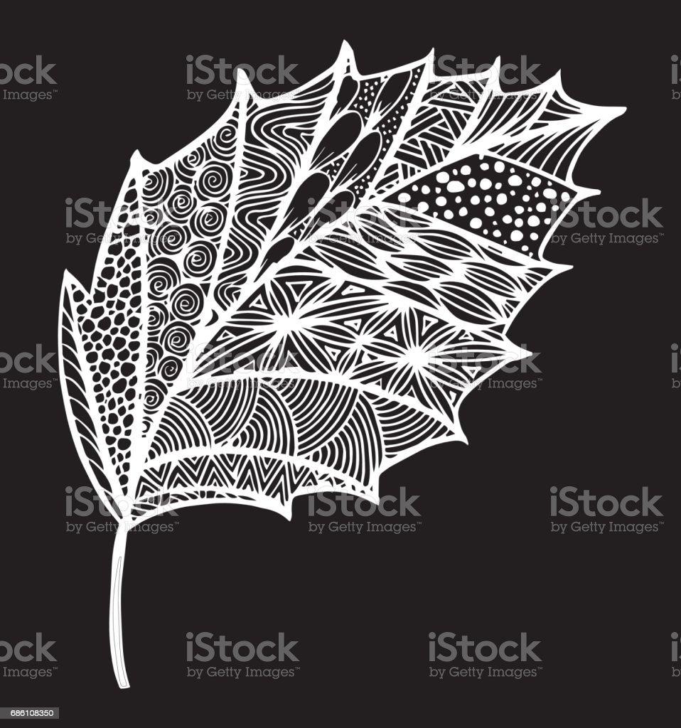 Dekoratif Siyah Beyaz Yaprak Agac Hazel Resimde Resmi Bahce Bitki