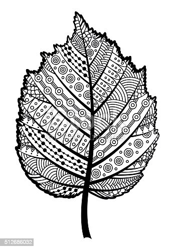 Decorative Black And White Leaf