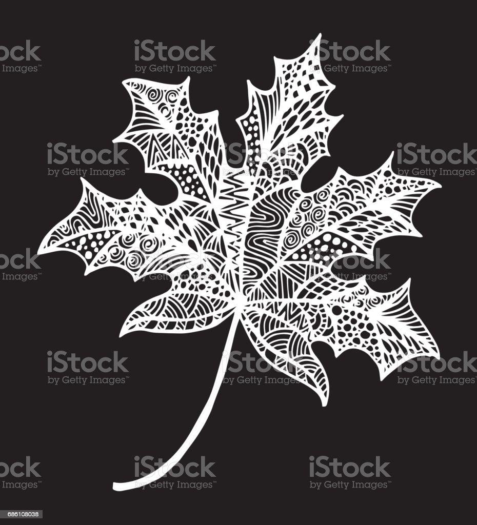 Decoration Feuille Noir Et Blanc De Lerable De Larbre