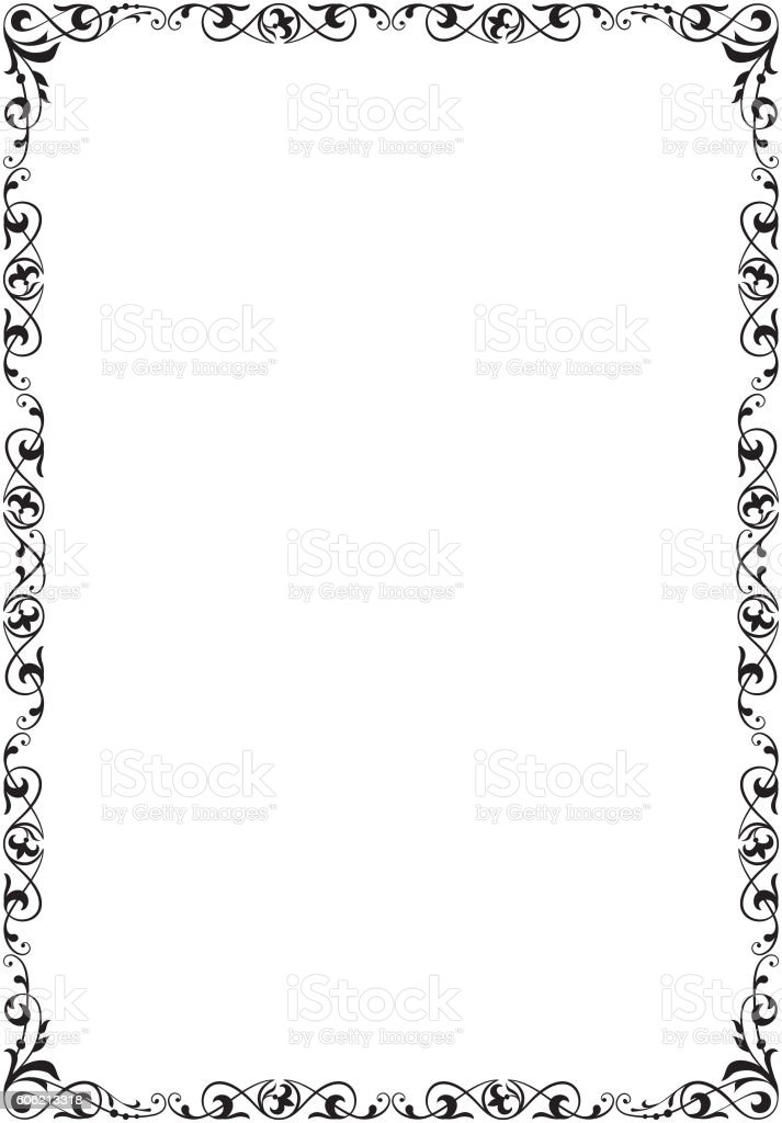 Decorative Black Frame A4 Size Stock Vector Art & More Images of ...