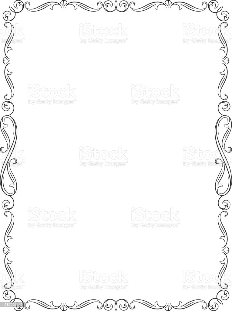 letter page proportions royalty free decorative black frame letter page