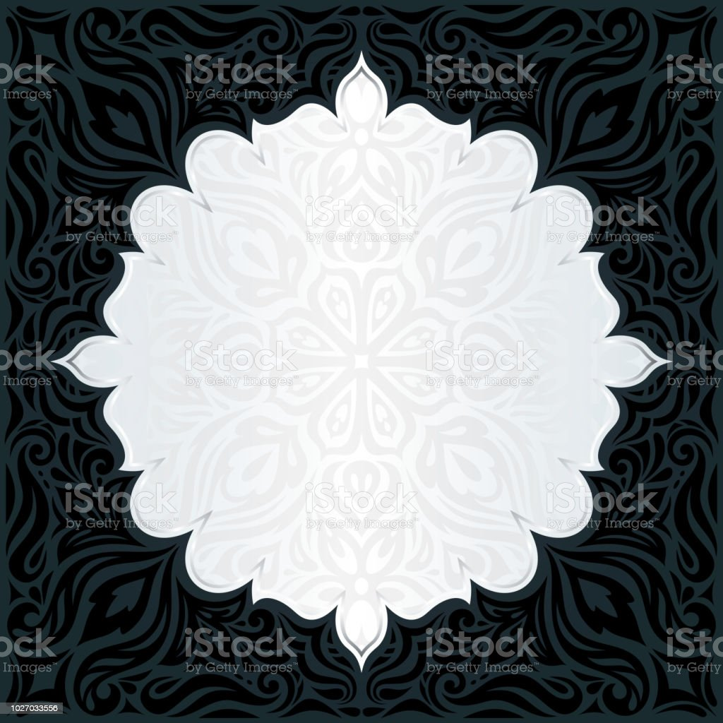 Decorative Black Gold Floral Luxury Wallpaper Background Trendy Fashion Mandala Design Royalty Free