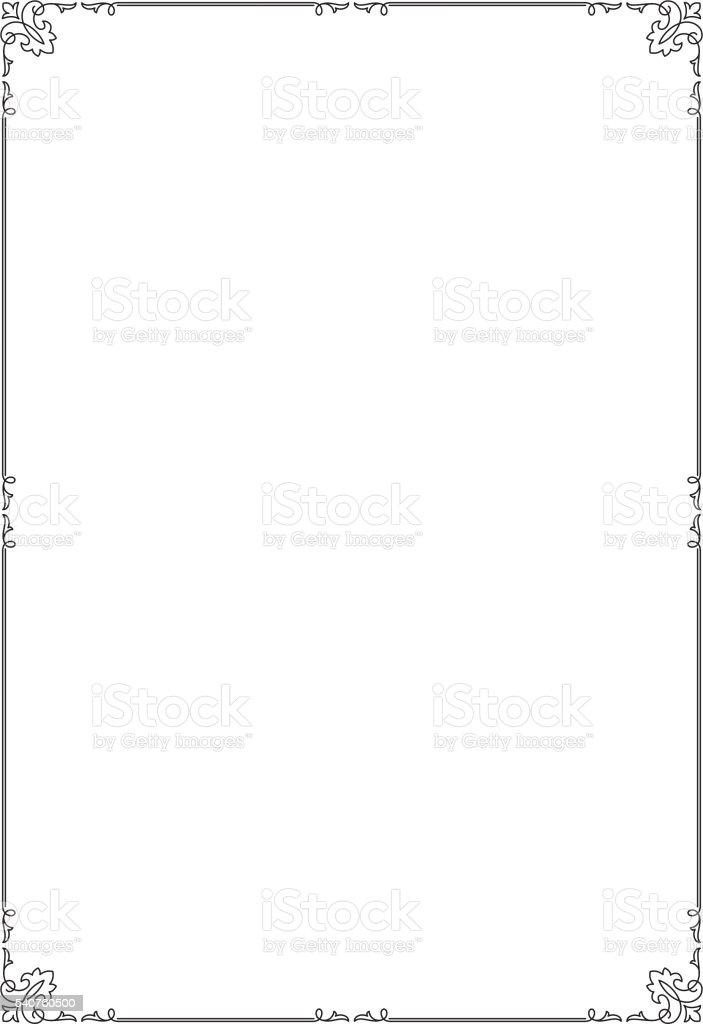 Dekorative Schwarze Rechteckige Textrahmen Din A4seiteformat Stock ...