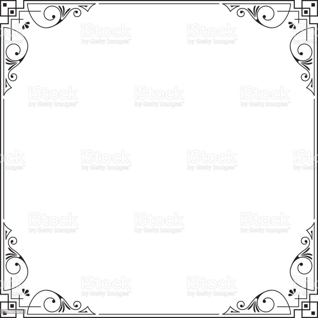 Conhecido Quadro Quadrado Preto Decorativo Modelo De Cartão Convite  MQ98
