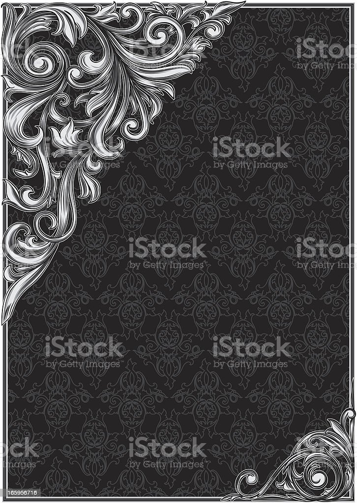 Decorative blank & corners royalty-free stock vector art