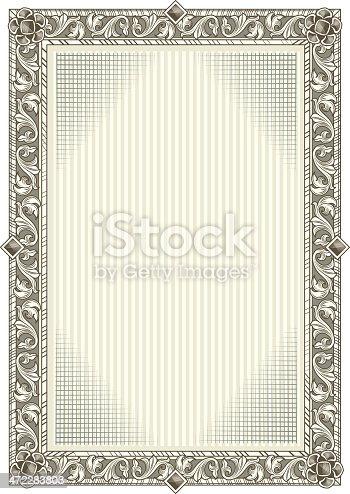 istock Decorative blank frame 472283803