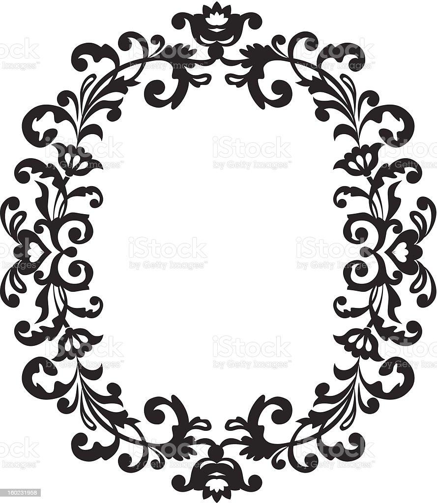 Decorative border vintage ornament royalty-free stock vector art