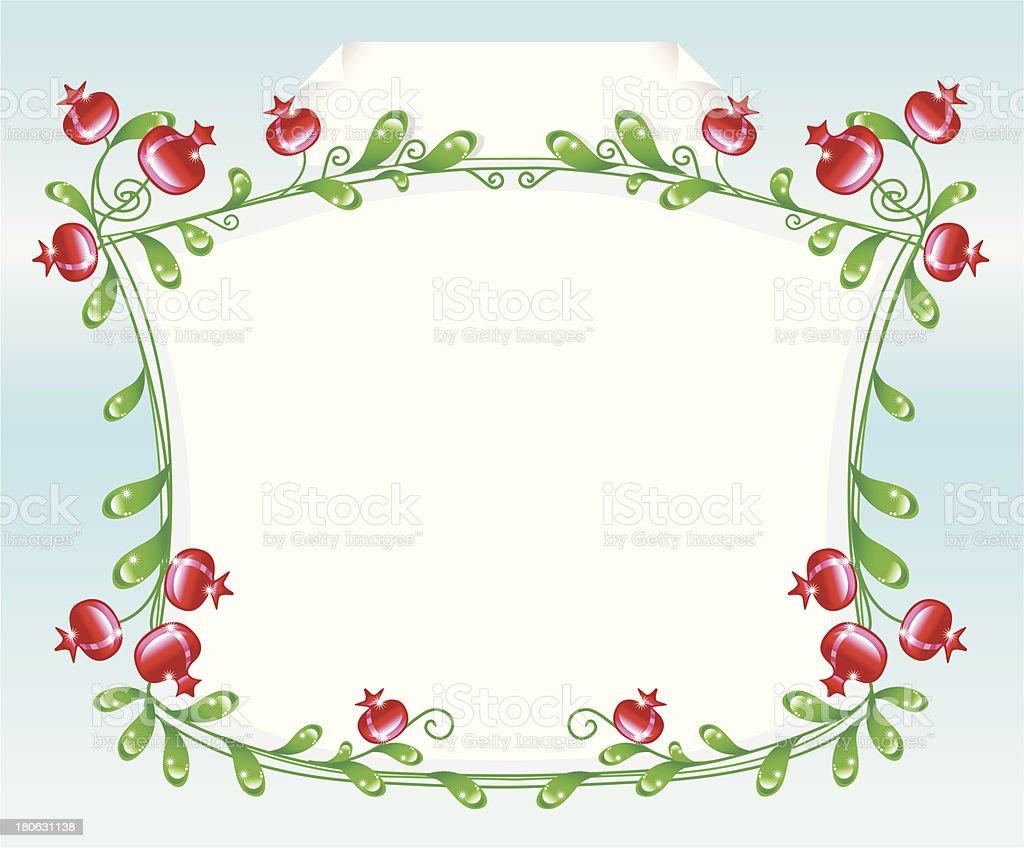 Dekorative Grenze mit rosehips. – Vektorgrafik