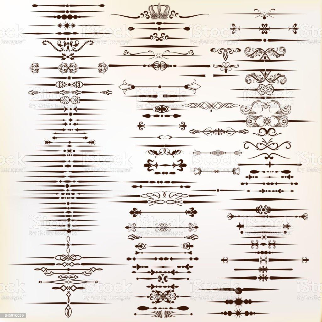 Bordures décoratives pour votre design. Calligraphic VECTEUR - Illustration vectorielle