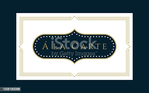 Decorative Business & Gift Card Template on the Navy Background