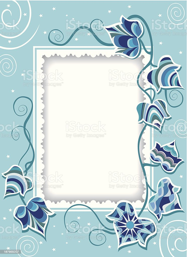 Decorative card with fancy ivy royalty-free decorative card with fancy ivy stock vector art & more images of abstract