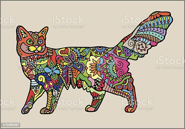 Decorative cat colorful ornamental pattern vector id475395567?b=1&k=6&m=475395567&s=612x612&h=8yurhvdb eltpcxg7kjckj8 1ucfbel gxzrdtyim o=