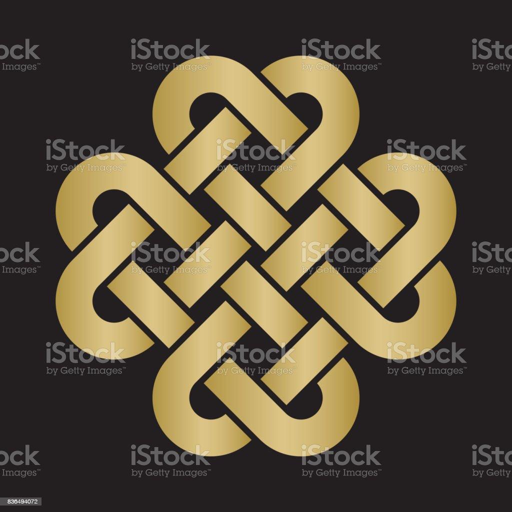 Decorative Celtic Love Knot vector art illustration