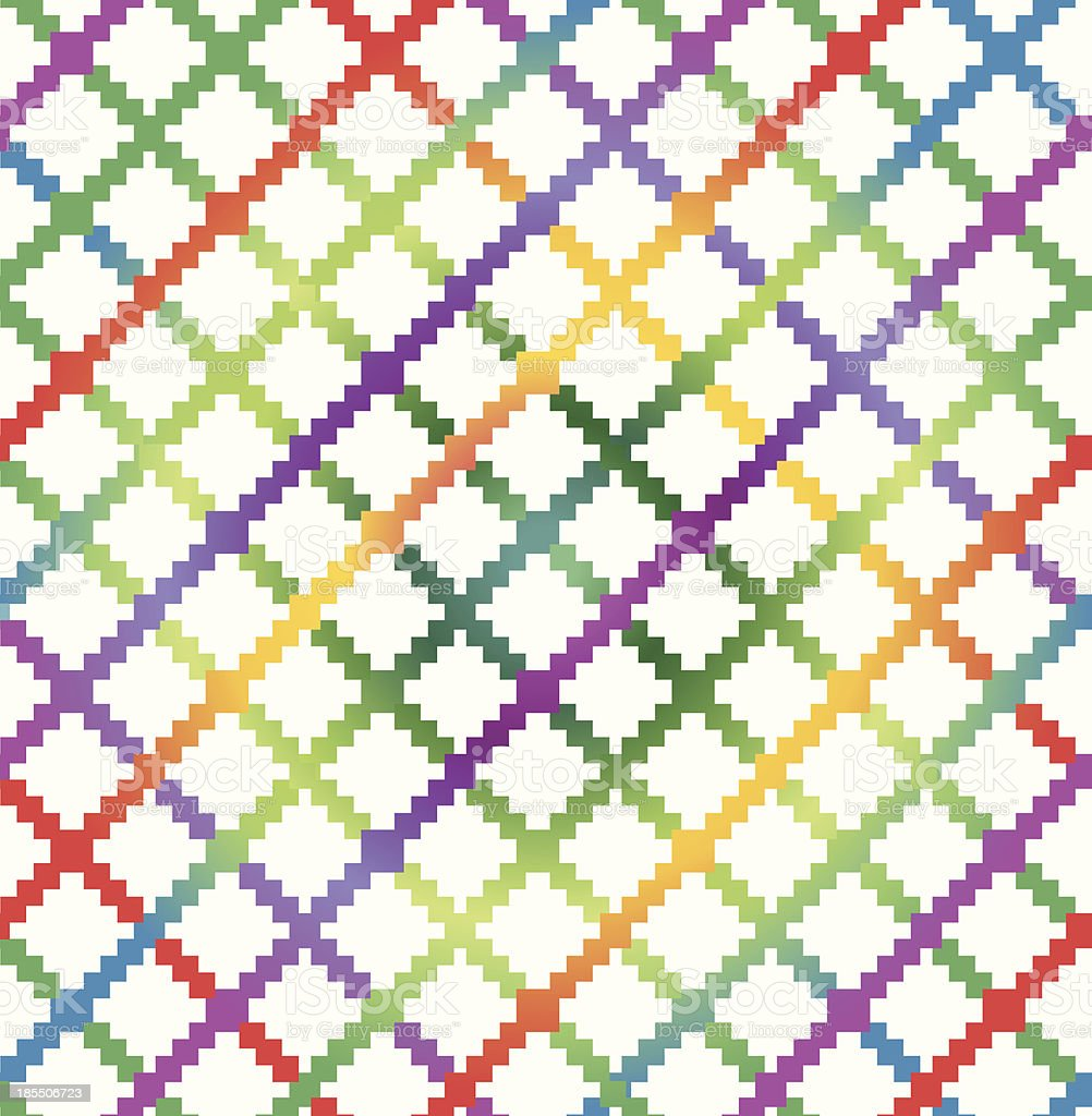 Decorative checkered multicolor pattern. Bright seamless background royalty-free stock vector art