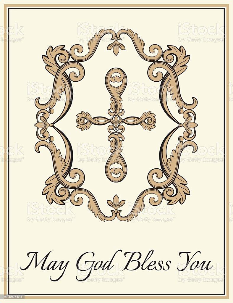 Decorative Christian cross decorative christian cross - immagini vettoriali stock e altre immagini di arredamento royalty-free