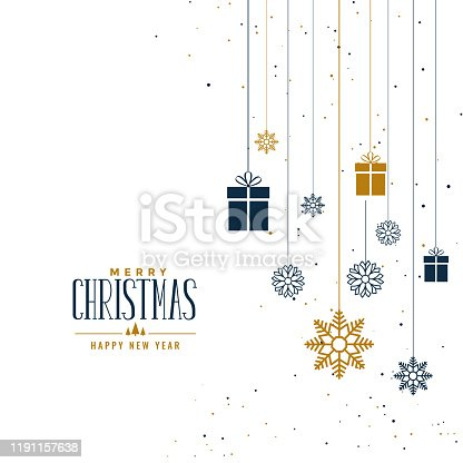 istock decorative christmas background with gifts and snowflakes 1191157638