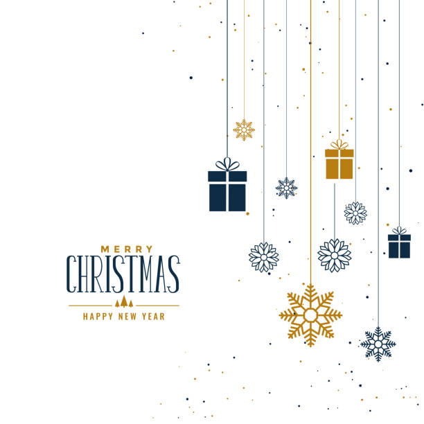 贈り物や雪片と装飾クリスマスの背景 - クリスマス点のイラスト素材/クリップアート素材/マンガ素材/アイコン素材