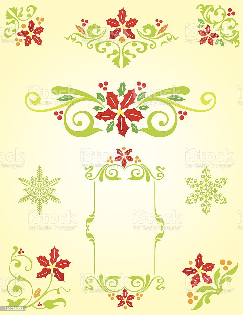 Decorative Christmas elements royalty-free stock vector art