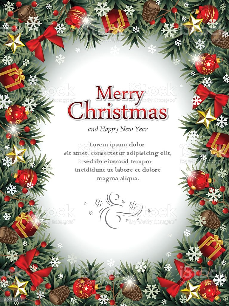 Christmas Frame.Decorative Christmas Frame Stock Illustration Download Image Now