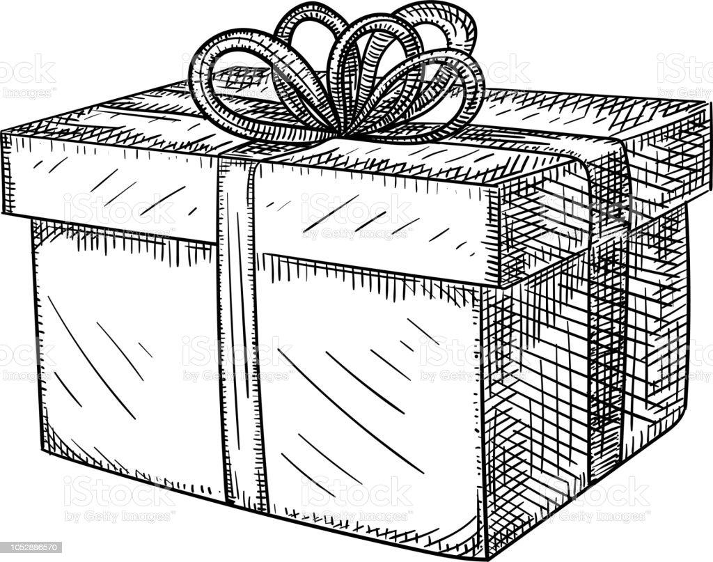 Ilustración De Decorativo Dibujo De Caja De Regalo De Navidad Y Más