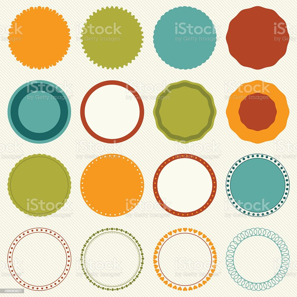 decorative circle frames vector art illustration