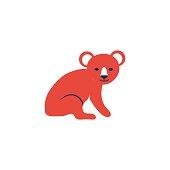 Decorative colorful koala bear, Australian wild animal, Tropical cartoon character design, Cute flat vector illustration isolated on white, for design zoo alphabet, invitation, greeting card