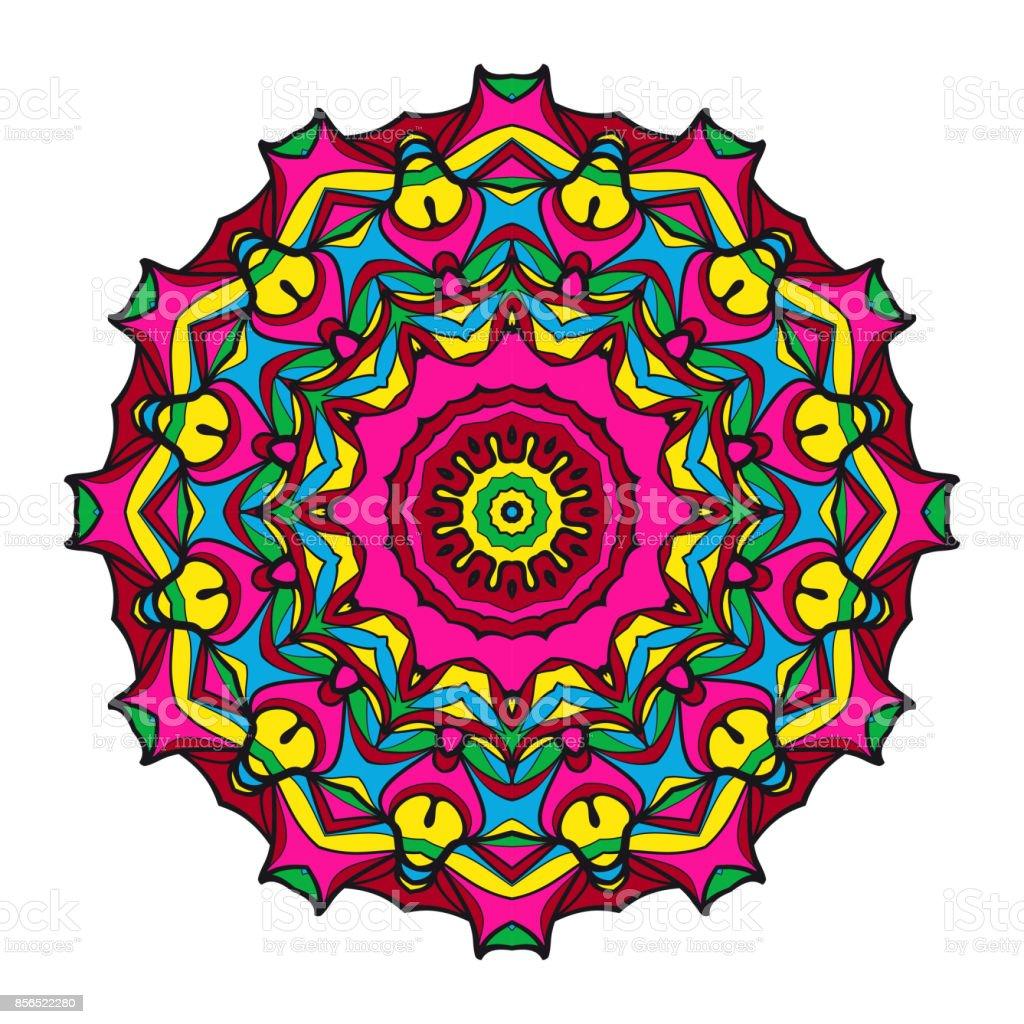 Dekoratif Boyama Mandala Vektor Cizim Antistres Terapisi Desen