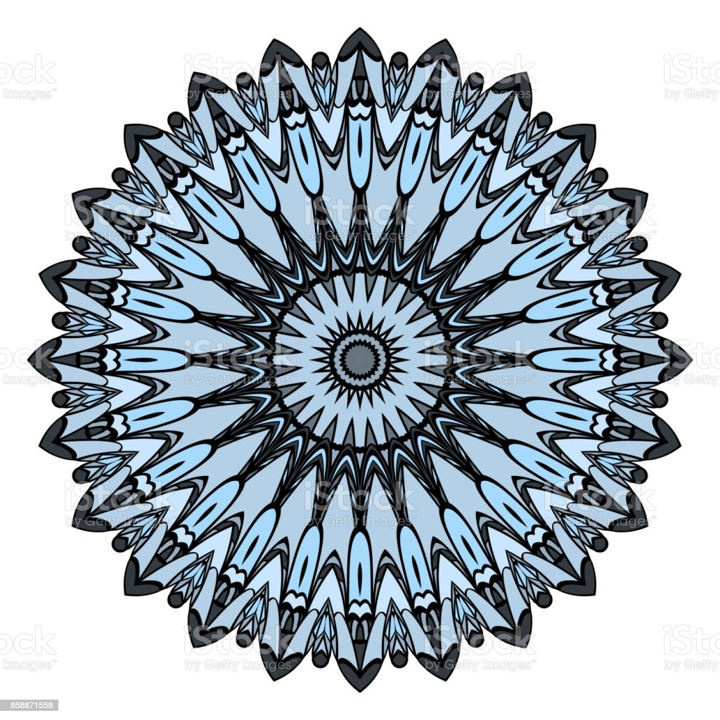 Mandala Vektor Cizim Boyama Dekoratif Antistres Terapisi Desen
