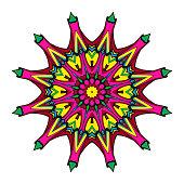 Decorative coloring mandala. vector illustration. Anti-stress therapy pattern.