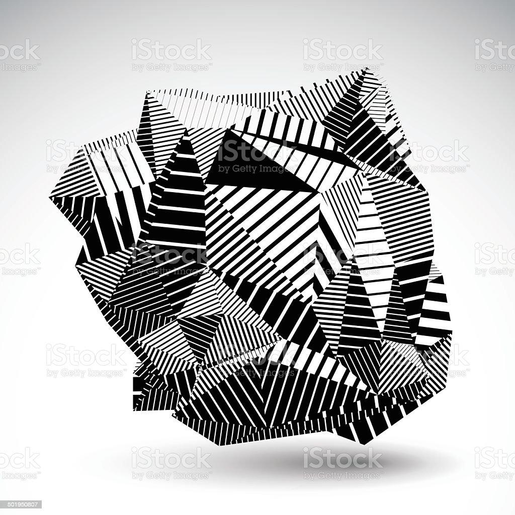 Decorative complicated unusual eps8 constructed figure vector art illustration