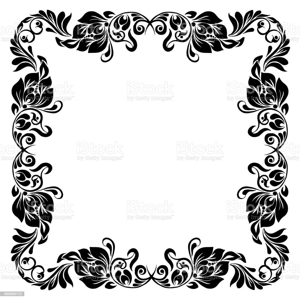 decorative corner frame vector art illustration