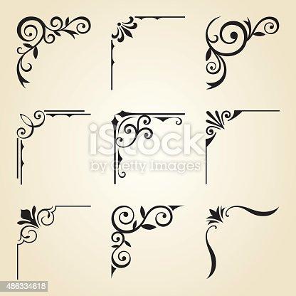 istock Decorative Corner Frames 486334618