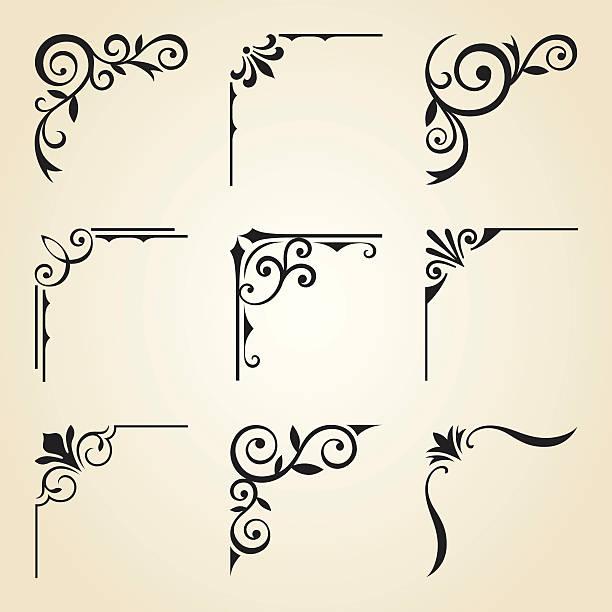 rogu ramki ozdobne - ozdobny stock illustrations