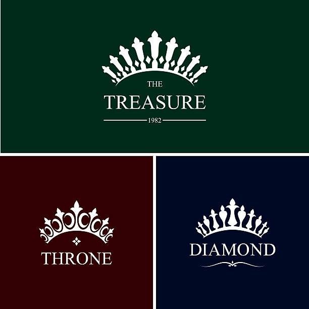 illustrations, cliparts, dessins animés et icônes de decorative crowns - diademe