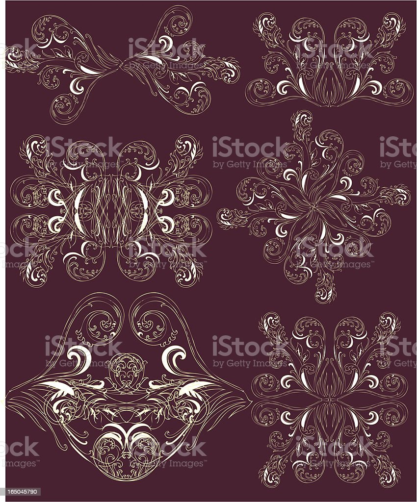 decorative curlies royalty-free decorative curlies stock vector art & more images of backgrounds