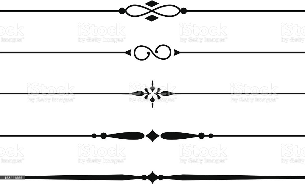 Basic Design Line : Decorative dividers and accents stock vector art