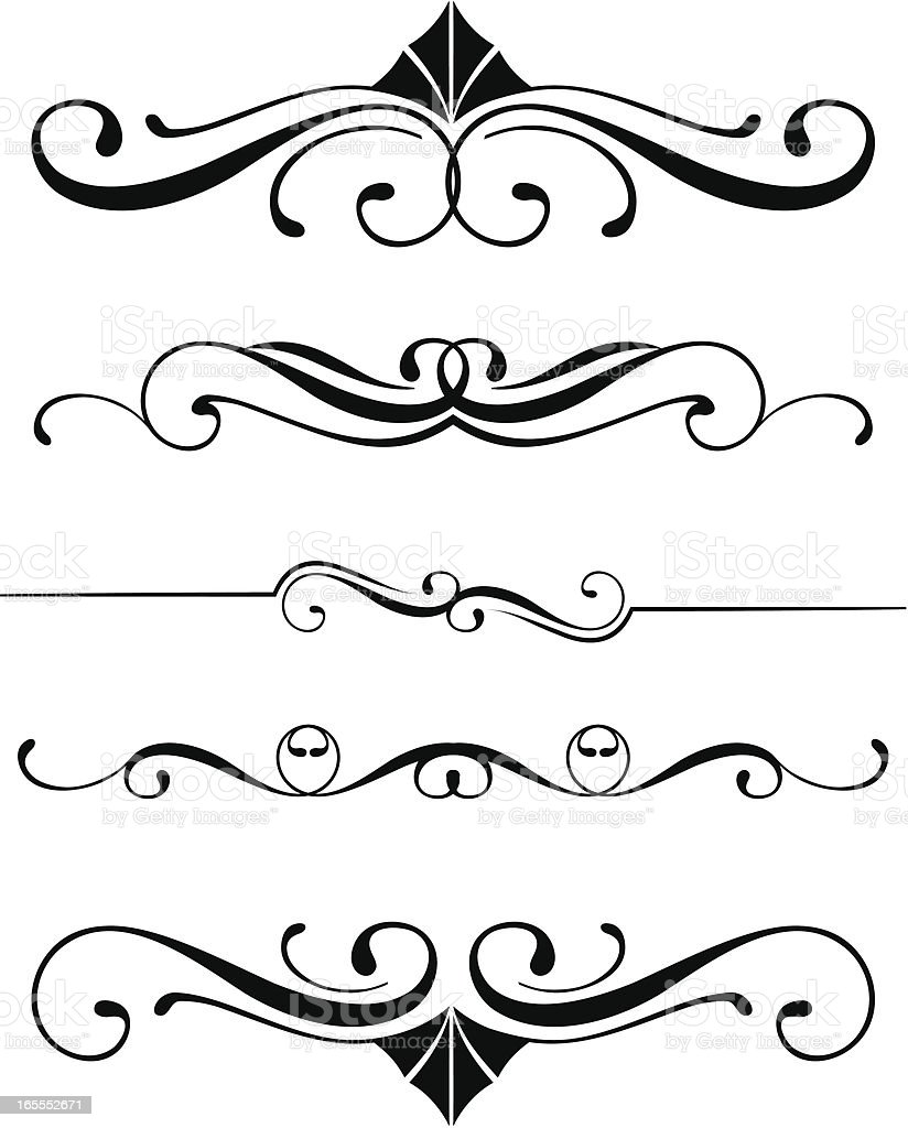 Decorative Dividers royalty-free decorative dividers stock vector art & more images of curve